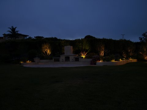 Calabasas Landscape Lighting Patio Area